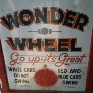 Wonder Wheel sign